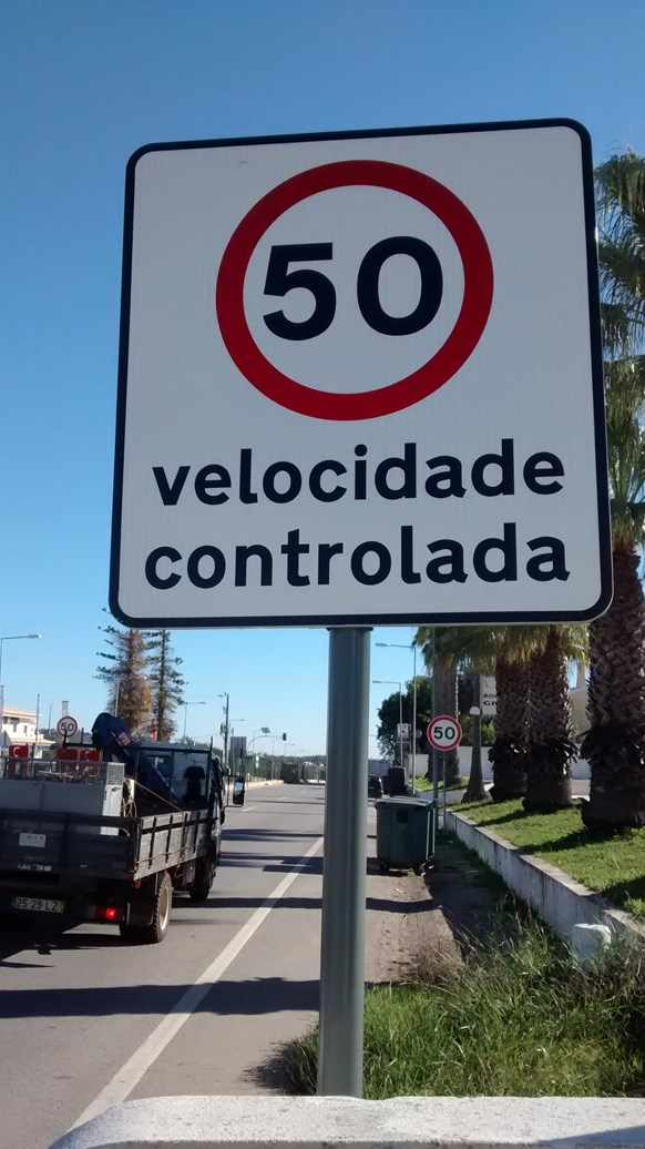 Speed Limit sign, Portugal